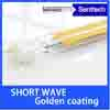 Golded short wave infrared heating lamp