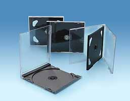 CD case single/double black 10.4mm