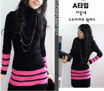 Erixiu Knit fabric dress(black)